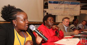 SLIDER Millicent Olulo Orera, PharmAccess, speaking at SafeCare Conference 2013